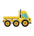 truck icon Under construction concept vector image vector image