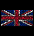 uk flag pattern of flag icons vector image