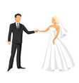wedding bride and groom vector image