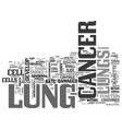 what is lung cancer and who can get it text word vector image vector image
