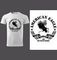 white t-shirt with eagle vector image vector image