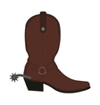 Wild west leather cowboy boot with spur No vector image vector image