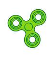 fidget spinner sign lemon scribble icon vector image