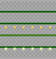 christmas garlands - set of modern vector image
