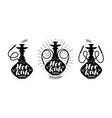 hookah club logo or label nargile icon lettering vector image