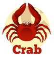 ABC Cartoon Crab vector image