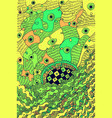 abstract psychedelic surreal doodle green vector image vector image