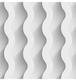Abstract white paper 3d waves seamless background vector image