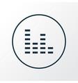 audio mixer icon line symbol premium quality vector image