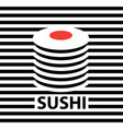 banner with a picture sushi vector image