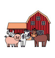 barn animals farm vector image