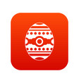 beautiful easter egg icon digital red vector image