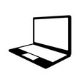 black icon laptop cartoon vector image vector image