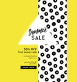 bright yellow and fancy summer poster design vector image