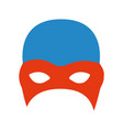 colorful silhouette of fighter mask vector image