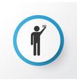 doing selfie icon symbol premium quality isolated vector image vector image