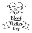 doodle style blood donor day collection vector image vector image