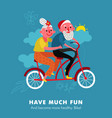 elderly bike holiday cartoon vector image vector image