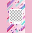 elegant modern memphis style pattern vector image