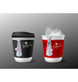 fathers day concept design of hot coffee cup and vector image vector image