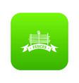 fence village icon green vector image vector image