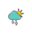 flat color rainy icon vector image