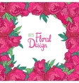 frame with peonies vector image