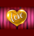 golden heart celebration balloons glitters 3d vector image vector image
