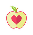 half apple logo vector image