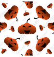 happy halloween pumpkin seamless pattern vector image vector image