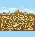 help red ant to find way out from underground maze vector image vector image