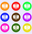 Kidneys icon sign Big set of colorful diverse vector image vector image