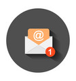 mail envelope icon in flat style email message vector image