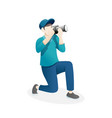 male photographer vector image