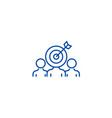 marketing audience engagement line icon concept vector image vector image