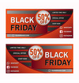 modern black friday sale coupon banner vector image
