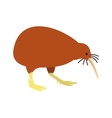 North Island Brown Kiwi icon flat style vector image