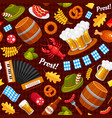 oktoberfest holiday celebration color vector image