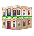 old fashioned style building with red door vector image vector image