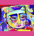 original digital artwork of cat portrait vector image vector image