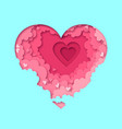 paper heart with clouds for valentine vector image