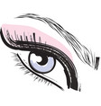 pink purple blue female closed female eye vector image vector image