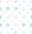 puzzle icons pattern seamless white background vector image vector image