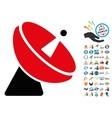 Radio Telescope Icon with 2017 Year Bonus vector image vector image