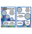 rainbow brochure with blue elements advertising vector image