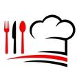 restaurant emblem vector image vector image