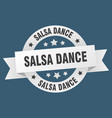 salsa dance ribbon salsa dance round white sign vector image vector image