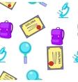 School item pattern cartoon style vector image vector image