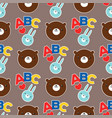 seamless abc teddy bear pattern pattern vector image