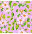 seamless pattern displaying bold flowers vector image vector image